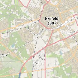Krefeld Karte.Mtb Rad Wander Kreis Stadt Karte Krefeld
