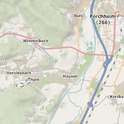 Mtb Bike Hiking County City Map Erlangen