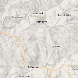 Mtb Bike Hiking County City Map Antakya