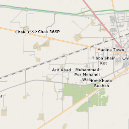 Mtb Bike Hiking County City Map Pakpattan - Pakpattan map
