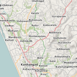 Mtb Bike Hiking County City Map Kanhangad - Kanhangad map