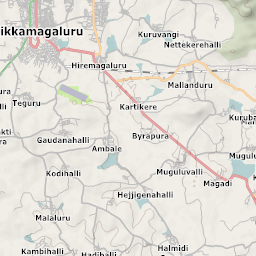 Mtb Bike Hiking County City Map Chikmagalur - Chikmagalur map