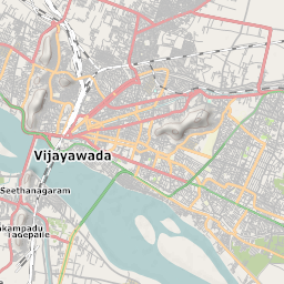 Mtb Bike Hiking County City Map Vijayawada