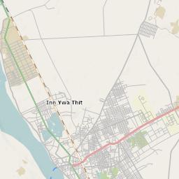 Mtb Bike Hiking County City Map Monywa