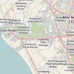 Mtb Bike Hiking County City Map Alor Setar - Alor setar map