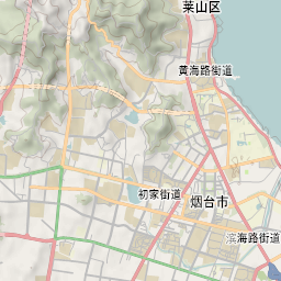 Mtb Bike Hiking County City Map Yantai - Yantai map